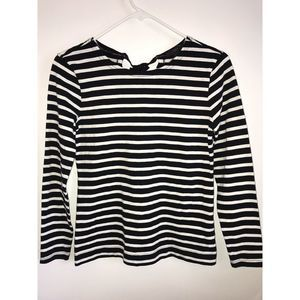 J. Crew NWT Striped Long Sleeve T-Shirt with Bow